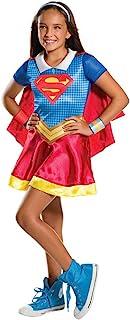 "Rubie's Supergirl Costume, Kids DC Super Hero Girls Outfit, Medium, Age 5 - 7 years, HEIGHT 4' 2"" - 4' 6"""