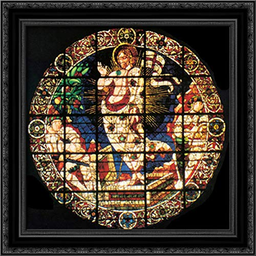 Oculus Depicting The Resurrection 20x20 Black Ornate Wood Framed Canvas Art by Paolo Uccello