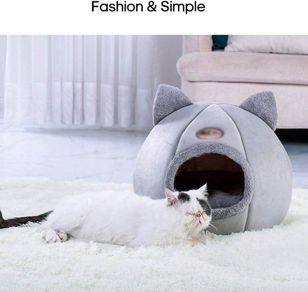 Suave Large Gatos y Perros Cama Caliente para Gatos mewmewcat c/ómoda Tienda de campa/ña Interior para Mascotas para Invierno