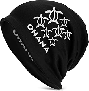 Hawaiian Palm Tree and Sea Turtle Beanie Skull Cap for Women and Men Winter Warm Daily Hat