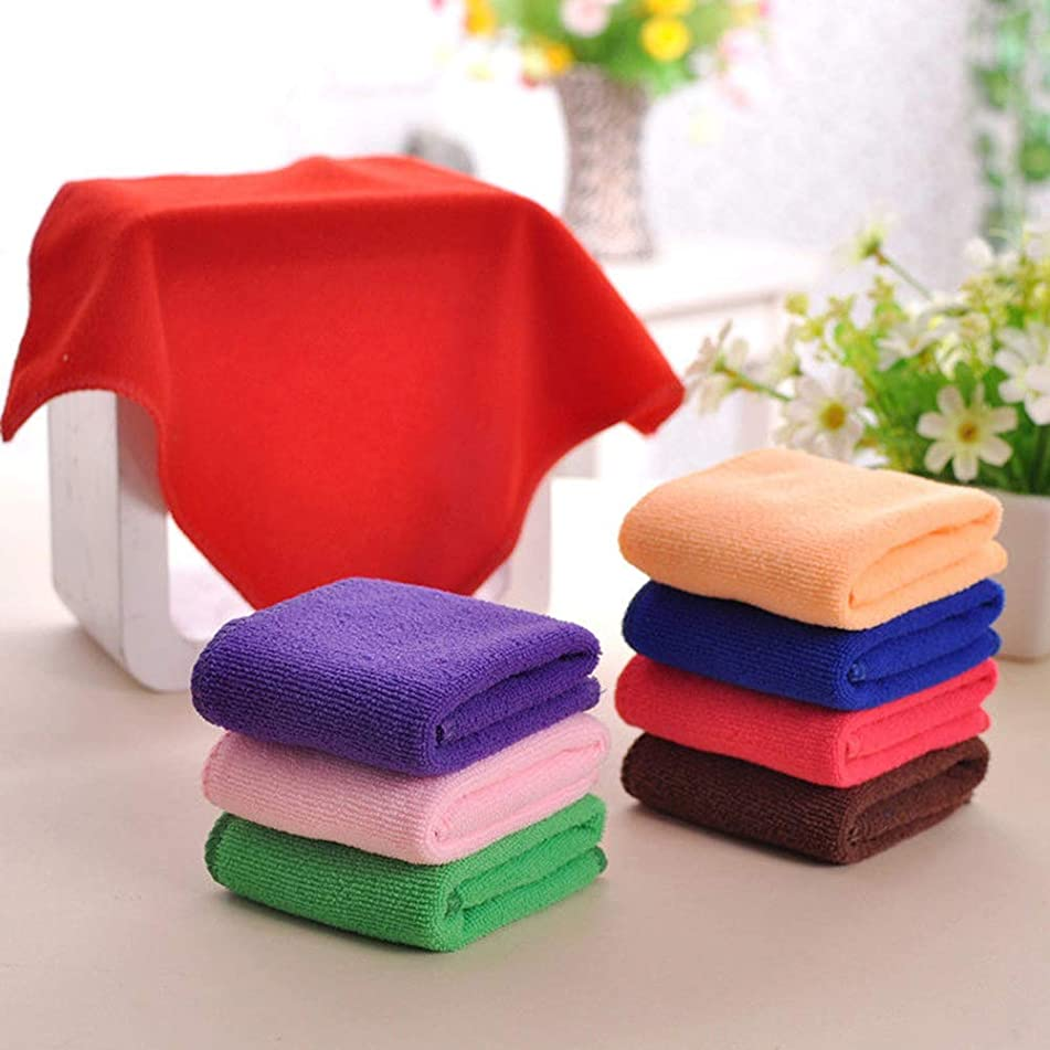 Aland 5 Pcs Mixed Color Microfiber Car Cleaning Towel Kitchen Washing Polish Duster 5pcs