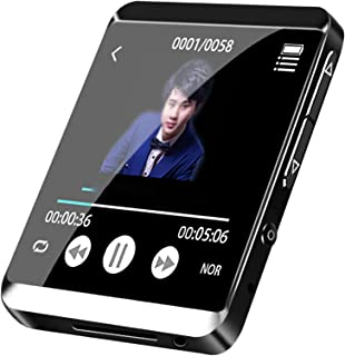 Lossless Motion Bluetooth Music Player with Clip, Smart Full Touch Operation MP3 16G Speaker, Maximum Expansion 128G,Black