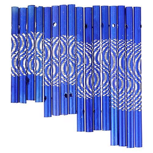 EXCEART 16 Piezas de Aluminio Campana de Viento Tubo Campana de Viento Tubos Vacíos Campana de Viento Accesorios para Hacer Adornos...
