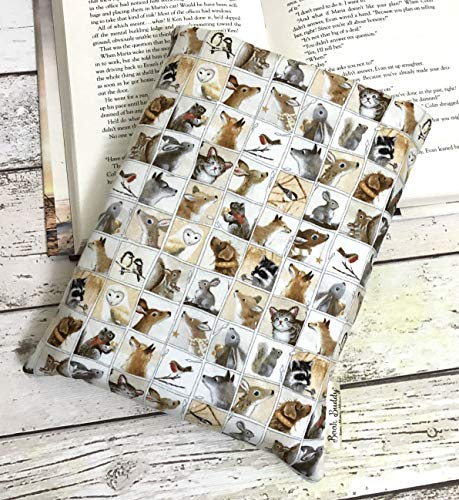 Winter Animals Book Sleeve - Woodland Friends Book Buddy, 4 Sizes, Book Lover Gift