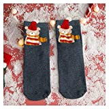Gzjdtkj Medias de Navidad Mujer de Navidad Calcetines Divertidos Dibujos Animados Calcetines de árboles de Navidad de Santa Claus Kawaii Calcetines Chica Animal de la Historieta