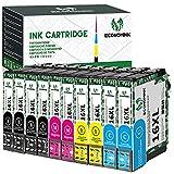 Cartuchos de tinta de repuesto EconomInk 16XL para Epson 16 XL compatibles con Epson workforce wf-2630wf wf-2750dwf wf-2660dwf wf-2010w wf-2510wf wf-2520nf wf-2530wf wf-2540wf wf-2650dwf (10Pack)