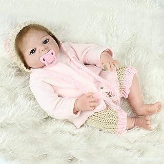 22 Cal odrodzenie dziecka lalka bobas pełny silikon 55 cm lalka symulacyjna zabawka prezent, lalki Reborn