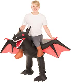 Inflatable Ride-On Dragon Halloween Costume for Adults
