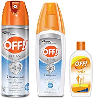 Off Pack de Repelentes Advanced, Aerosol, 170 g, Advanced Spray, 177 ml y Crema Family, 60 ml