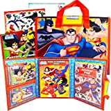 Comic DC Justice League Activity Set with Superhero Coloring Book, Stickers, Games, Puzzles and More (Travel Party Pack)