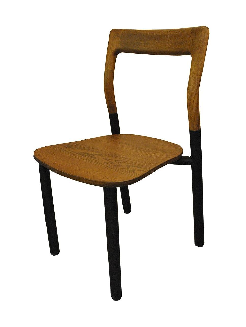 制限された真っ逆さまディレイ【チェア】シンプル?スタイリッシュ オーク×スチール 北欧調や男前インテリアに! Flo Join Chair WN/BK FLOJCWNBK