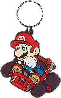 Pyramid International Mario Kart Mario Drift Rubber Keychain, Multi-colour, 4.5