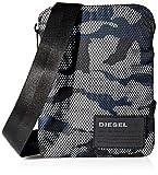 Diesel Me F-Discover Cross, Borsa a Tracolla Uomo, Multicolore (Black/White/Blue), 2 x 19.5 x 15 cm (W x H x L)