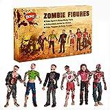 BOHS Muñecas Zombie Figuras de acción Juguetes - Modelo en Miniatura de articulaciones articuladas - 4 Pulgadas - Paquete de 6