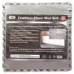 IIT 16732 Interlocking Cushion Floor Mat 22-Inch x 22-Inch 6-Pack