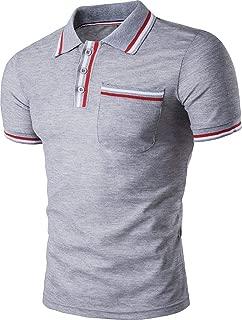 Mens Polo Shirts Contrast Collar Golf Tennis Short Sleeve Shirt Tops JZA050