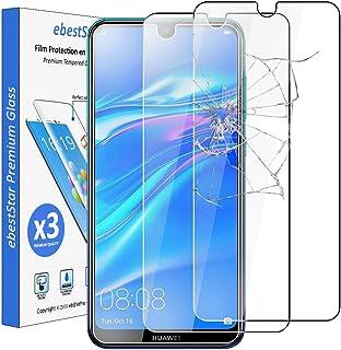 ebestStar - kompatibel med Huawei Y7 2019 skärmskydd Y7 Prime/Pro premium härdat glas [x3-pack] okrossbart, 9H 3D bubbelfr...