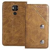 YLYT Flip TPU Silikon Schutz Hülle Hülle Für Ulefone Power 6 6.3 inch Etui Braun Leder Tasche Handyhülle Hochwertiges Stoßfeste Kartenfach Cover