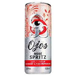 O'jos Rose Spritz Lightly Twisted with Cranberry and Pink Peppercorn Flavour, 250 ml