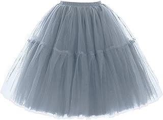 FOLOBE Donna Balletto per Adulti Tutu stratificata Organza Lace Minigonna Principessa Petticoat per Prom Partito Verde Menta