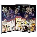 CUTEBEE Puppenhaus Miniatur mit Möbeln, Idee DIY hölzernes Puppenhaus-Kit sowie staubdicht, Maßstab 1:24 Kreativraum