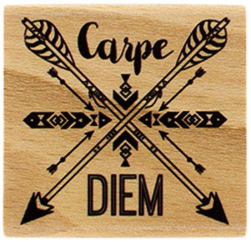 Florilèges Design FD216034 stempel Carpe Diem pijl, hout, 5 x 5 x 2,5 cm