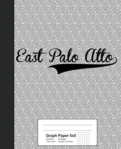 Graph Paper 5x5: EAST PALO ALTO Notebook (Weezag Graph Paper 5x5 Notebook)