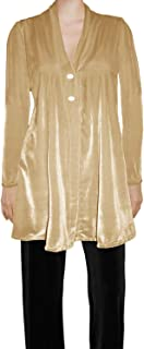 Womens Stretch Velvet Flared Button Special Occasion Cardigan Jacket