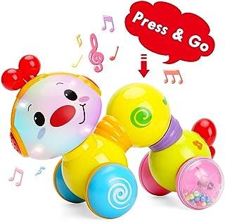 TINOTEEN Juguetes musicales para bebés pequeños con orugas de arrastre para bebés de 6 9 12 18 meses