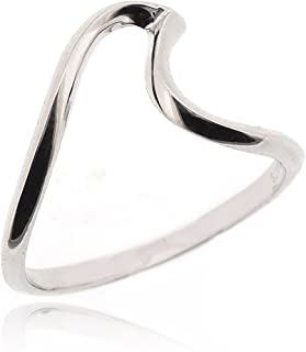 Trending Jewellery \u2022 Gift for her Minimalist Wave Design Adjustable Ring 925 Silver Gold Plated