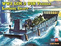 ホビーボス 1/48 ファイティングビークルシリーズ LCM-3 上陸用舟艇 プラモデル 84817 グレー