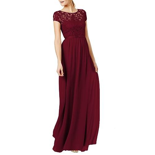 Lace Burgundy Dress: Amazon.com