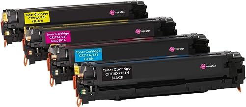 4 INK INSPIRATION® Tóners compatibles para HP LaserJet Pro 200 Color M251n M251nw MFP M276n MFP M276nw Canon LBP-7100CN LBP-7110CW MF-8230CN | Negro: 2400 páginas & Cian/Magenta/Amarillo: 1800 páginas