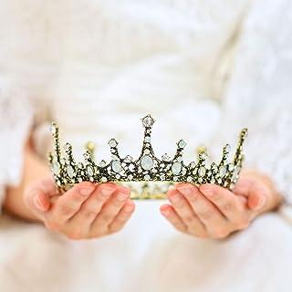 Handcess da sposa, corona e tiara opale strass fascia barocco da sposa copricapo