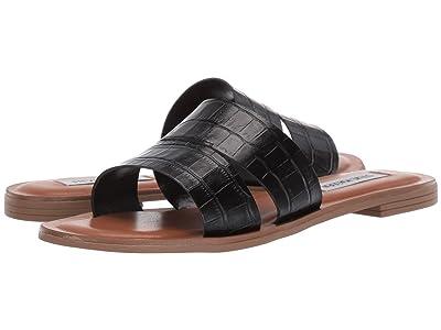 Steve Madden Alexandra Flat Sandals (Black Croco) Women