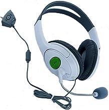 HDE casque de jeu avec micro pour Xbox 360Live blanc