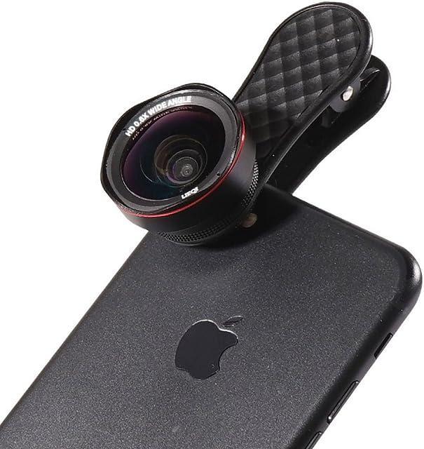 LIEQI Kit de Lente de cámara 2 en 1 (06 x Gran Angular + 15 x Lente Macro) Clip en Lente de teléfono para iPhonexiPhone 8 7 Plus/7/6s Plus/6s/Samsung teléfonos móviles y tabletas