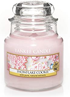 Yankee Candle bougie jarre parfumée | petite taille | Flocons sucrés | jusqu'à 30 heures de combustion