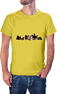 cats and dogs new modern T-shirt for men - TSM-9199