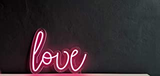 """Love"", Neon Led, luci neon, decorazione luminosa, NeonLed sign, scritte luminose"
