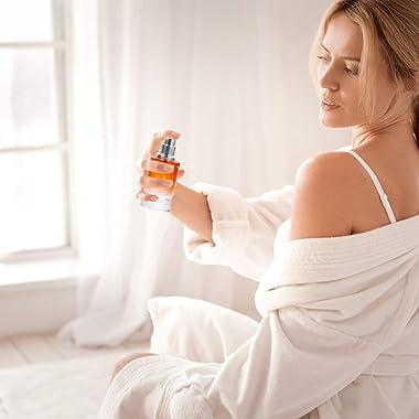 Healifty 4pcs 20ml Refillable Perfume Bottle Portable Empty Glass Perfume Spray Dispenser for Makeup Cosmetic Toiletry