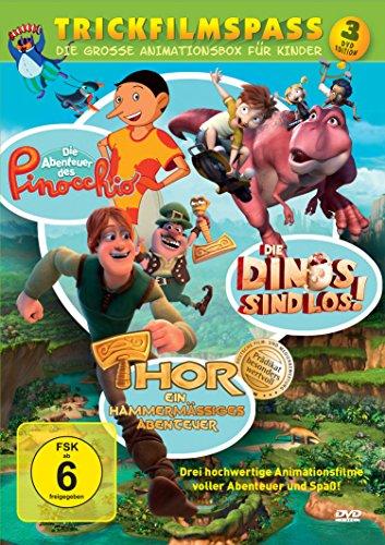 Trickfilmspaß - Die große Animationsbox für Kinder : Pinocchio - Thor - Die Dinos sind los [3 DVDs]
