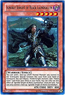 Yu-Gi-Oh! - Ignoble Knight of Black Laundsallyn (ABYR-ENSP1) - Abyss Rising - Limited Edition - Ultra Rare