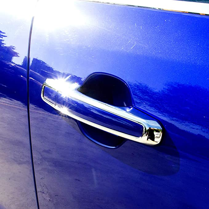 Zhangdan Außentürgriffe Türschalenabdeckung Zierschutzrahmen Aufkleber Auto Styling Außendekoration Modifikation Zubehör Für Jaguar Xf X260 Xe X760 F Pace F Pace X761 2015 2016 2017 2018 2019 Küche Haushalt