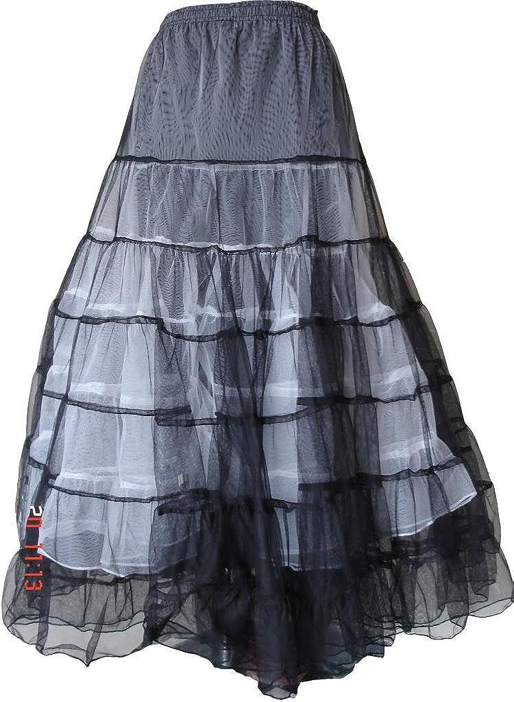 BARES Punk Prom Wear Victorian Net Skirt One Size Black/White
