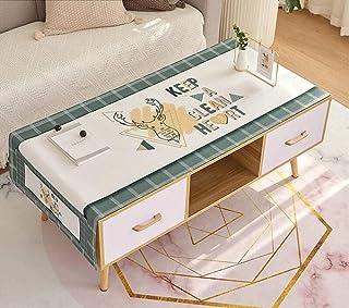 LMWB Bordsskydd, bordsduk, bomull linne bordsmatta skrivbord bordsduk TV-skåp litet soffbord bordsduk hushåll -THE_60 x 17...