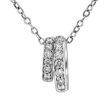 Colgante de diamante cultivado en laboratorio, certificado IGI, 3/8 quilates, diamante circular para mujer, 10 K y 14 K, colgante de diamante creado en laboratorio