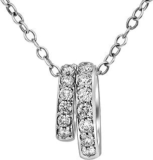 diamond circular pendant