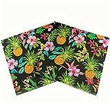 Wallye Luau party supplies 20tovaglioli ananas hawaiano, nero