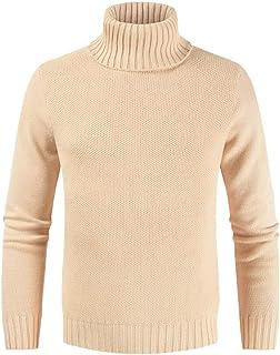 IFOUNDYOU Sweater Men's Lightweight Sweatshirt Slim Fit Turndown Wool Turtleneck Men's Long Sleeve T-Shirt, Autumn Winter,...